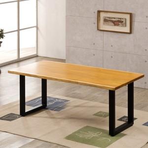 포리드 마호가니 우드슬랩 테이블 1800