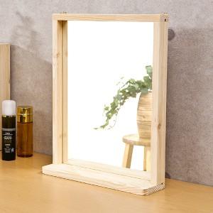 포리드 소나무 원목 사각거울 350