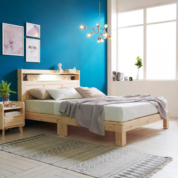 버플리 노스 퀸 원목 침대헤드형 + LED + 매트리스