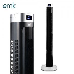 EMK 공간절약 키높이 리모콘 타워팬 선풍기 ETF-G5607 블랙/3단계세기/3가지모드/좌우회전/12시간타이머