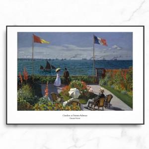 모네 인테리어 그림 액자 포스터 생트-아드레스의 정원