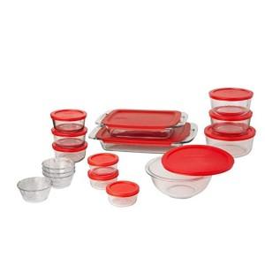 [파이렉스] 간편한 글래스 베이크웨어 및 식품 보관 세트 (28- 피스 BPA-프리)