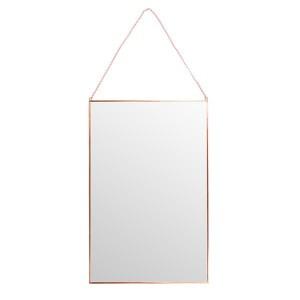 SKY 반신 직사각 거울 로즈골드 40H