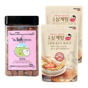 큐브져키 치킨350g+수제 건강 삼계탕2개
