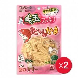 [펫츠루트] 고양이용 도미맛 어묵슬라이스 25g X 2개