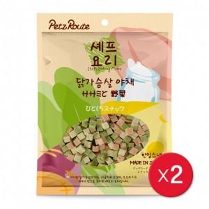 [펫츠루트]셰프요리말랑말랑닭가슴살야채400gX2개