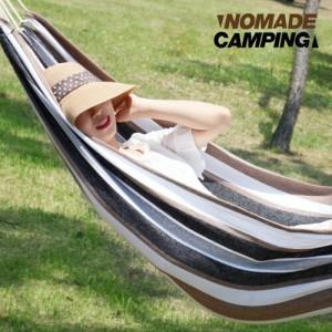 노마드 스트라이프 캠핑해먹 특대형 카페라떼 CN050025