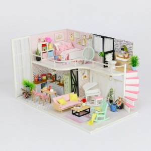 [adico] DIY 미니어처 하우스 - 안나의 핑크멜로디