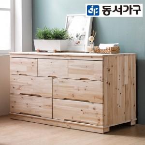 [동서가구]삼나무 원목 3단 와이드 서랍장 DF6350J5