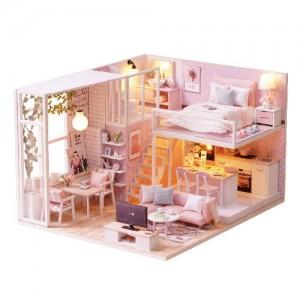 [adico] DIY 미니어처 하우스 - 핑크하우스
