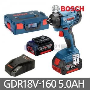 [보쉬] 충전 임팩트 드라이버 GDR18V-160 18V 5.0Ah