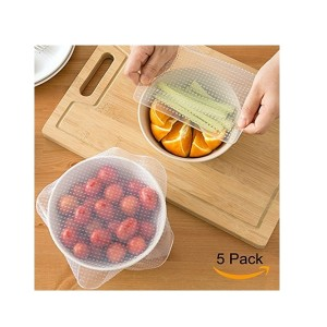 Grand Line Pack of 5 Reusable Eco Silicone Food Wraps