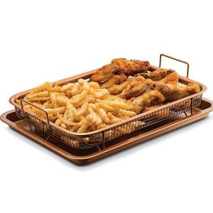 구오미아 GCT9960 오븐 크리스퍼 트레이 – 바삭하게 뜨거운 에어사용 및 프라이 푸드 기름이 없거나 건강에 해로운 지방없음 - 카본 스틸 팬