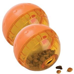 아워펫츠 아이큐 트리트 볼 음식 분배하는 작용하는 개 장난감 - 3 인치 / 2 팩
