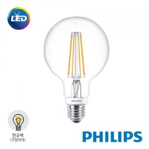 [PHILIPS]정품 필립스 에디슨 전구 7W G93 전구색(볼전구형)