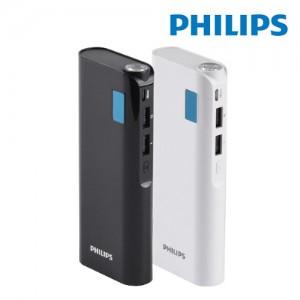 필립스 2포트 조명등 10000mAh 보조배터리 DLP10016 (배터리잔량LED표시)
