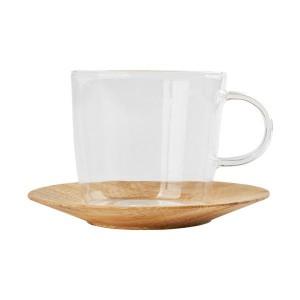 PH 글라스+우든받침 커피 찻잔세트