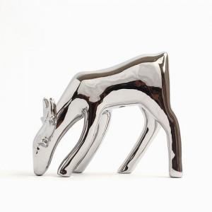 미니멀 은빛 사슴 실버 조각상 1개