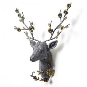 북유럽 행운의꽃사슴 조각상 1개
