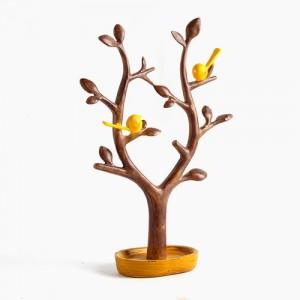 핸드메이드 나무와 새 조각상 1개