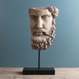 미니멀 빈티지 고대 두상 조각상 1개