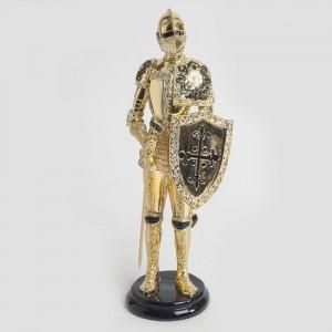 특별한 공간 중세기 골드 기사 조각상 1개