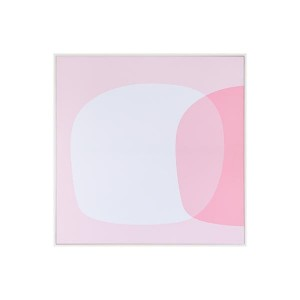 LB Pink Eclipse Framed Canvas 76X76