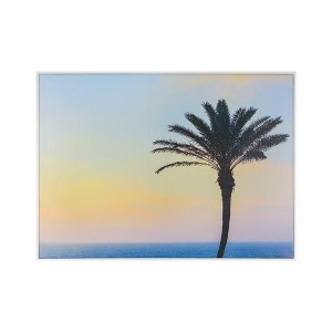 LB Beach Palm Framed Canvas 66X90