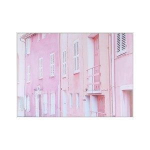 LB Candy House Pink Framed Canvas 66X90