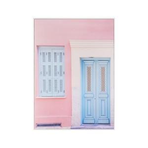 LB Front Door Framed Canvas 66X90