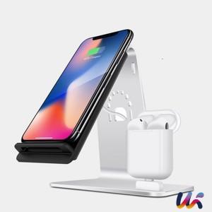 아이폰/에어팟 무선충전기 거치대 2in1[Y8]