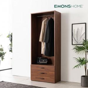 [에몬스홈] 인디 멀바우 드레스룸 옷장 800 3단 서랍형