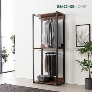 [에몬스홈] 인디 멀바우 스틸 드레스룸 옷장 800 2단 행거형