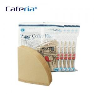 Caferia 커피 여과지 V샵2(500매)-CF2 [커피필터/거름종이/핸드드립/드립용품/커피용품]