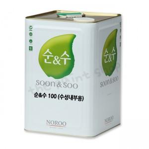 [더페인트샵] 노루페인트 순앤수 100 친환경 수성페인트(무광) 18L