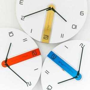 [모로]미러 12포인트 무소음 벽시계