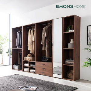[에몬스홈] 인디 멀바우 드레스룸 옷장 3200 풀세트