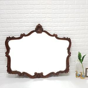 엔틱가구 아로아나 브라운 거울 엔틱벽거울