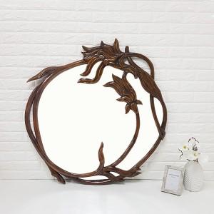 엔틱가구 브라운 넝쿨 거울