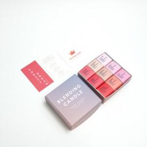심지 없는 멜팅캔들 9개입 세트 - 포레스티드림 우디,프루츠,플로럴 향기 구성