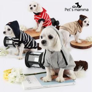 [펫츠맘마] 강아지옷 후드 티셔츠