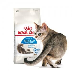 로얄캐닌 인도어 롱헤어 4kg 장모 고양이 헤어볼관리
