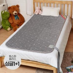 일월 2019 투스파플러스 온수매트 싱글 1+1세트/100x200 일월온수매트 전기요 일월매트 전기매트 전기장판