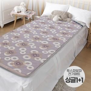 일월 2019 황토 알파 전기매트 싱글 1+1 세트/95x195 원난방 전기장판 온열매트 전기요 황토매트