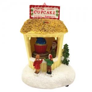 [adico] 크리스마스 미니어처 빌리지 - 컵케익