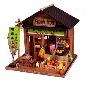 [adico] DIY 미니어처 우드 스토어 - 과일가게