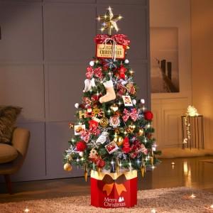 하우쎈스 크리스마스트리 레드와인(1.6M) 풀세트