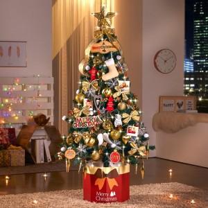 하우쎈스 크리스마스트리 골드브라운(1.6M) 풀세트