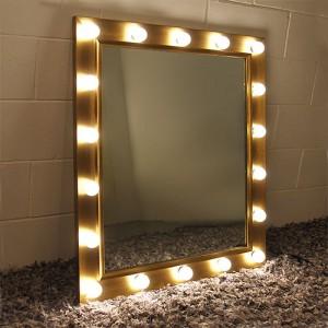 1W LED 룩소골드 전신 조명거울 (중형)