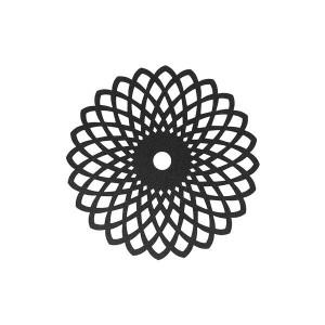HY2 마도바 메탈플라워 테이블매트 블랙